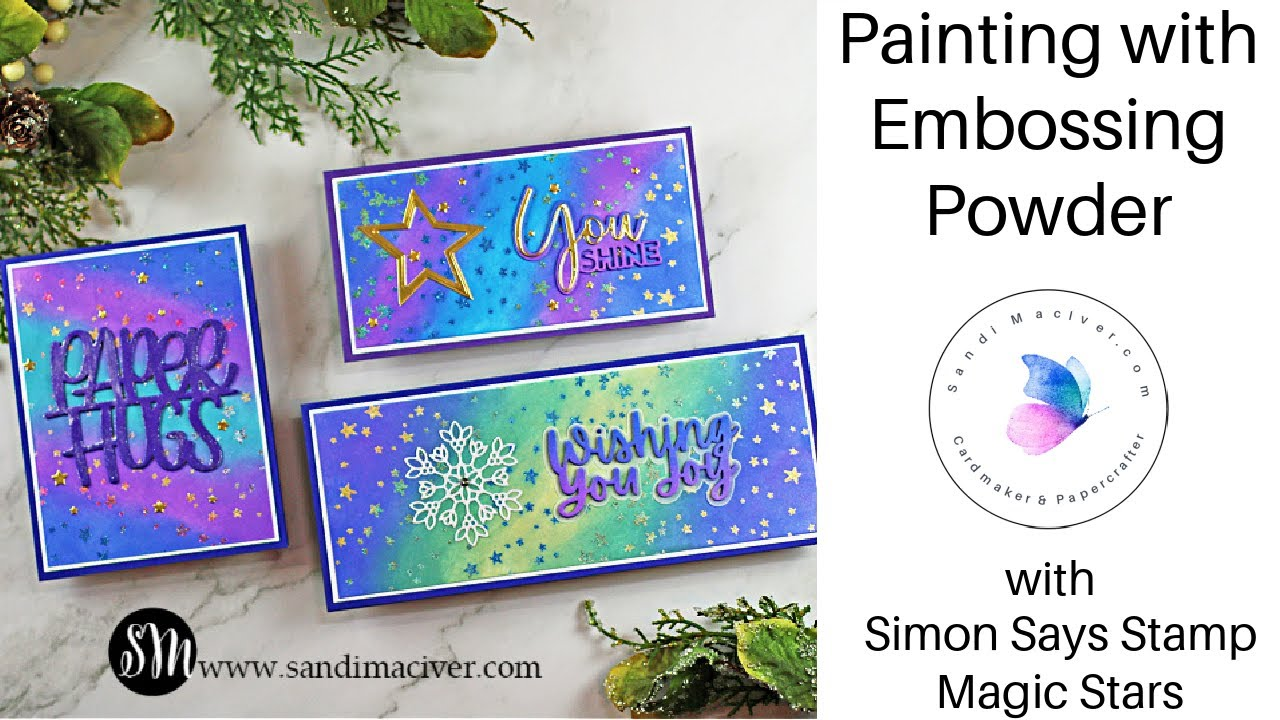 Cardmaking Technique - Painting with Embossing Powder