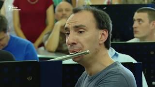 Військові оркестри України і США презентували нову пісню під час репетиції до Дня незалежності