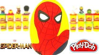 Huevo Sorpresa Gigante de Spider Man De Regreso a Casa en Español de Plastilina Play Doh