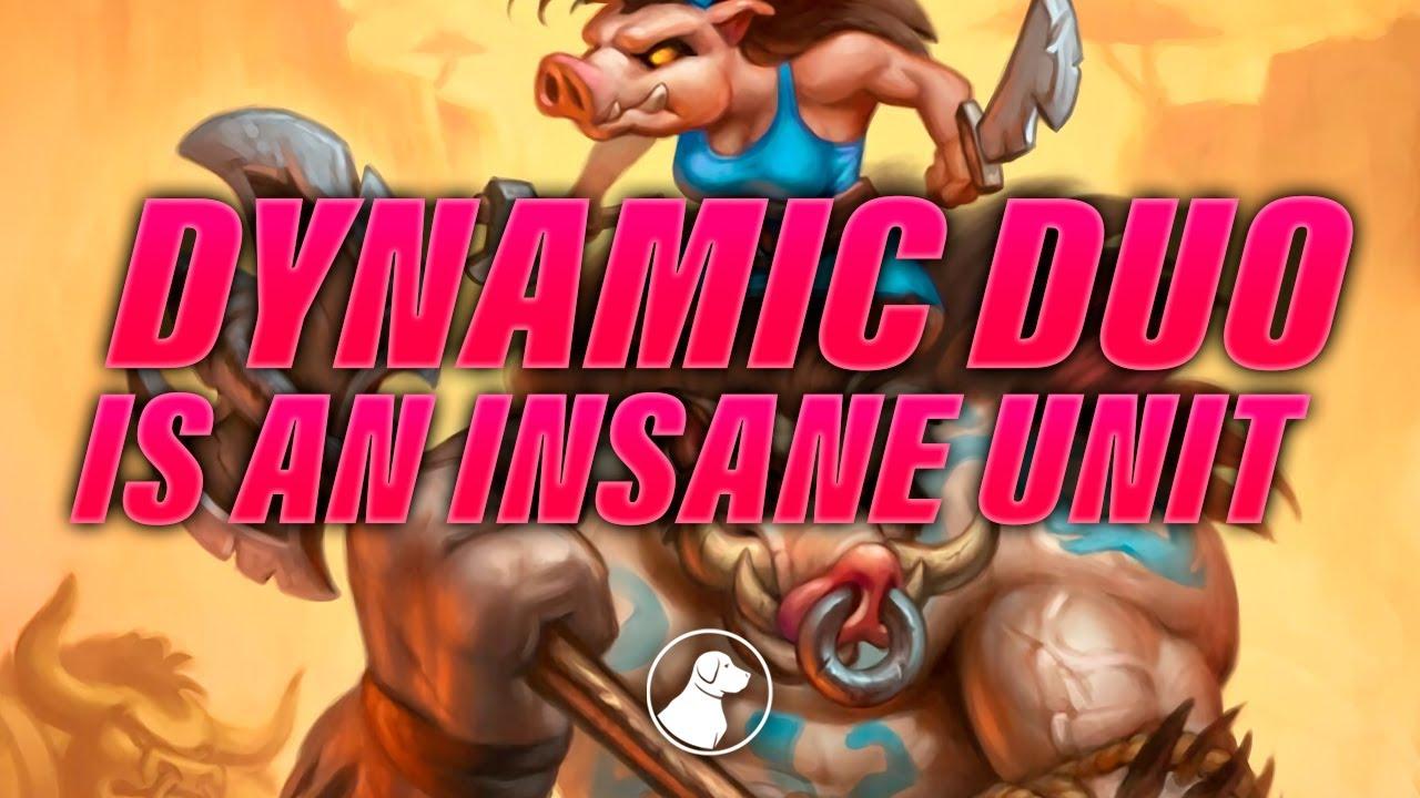 Dynamic Duo is an Insane Unit   Dogdog Hearthstone Battlegrounds