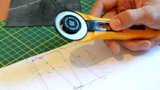 Как нарезать резину на рогатку? Нарезка тяг трапецией.