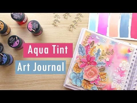 Aqua Tint Art Journal Page: Watercolor Inks Tutorial