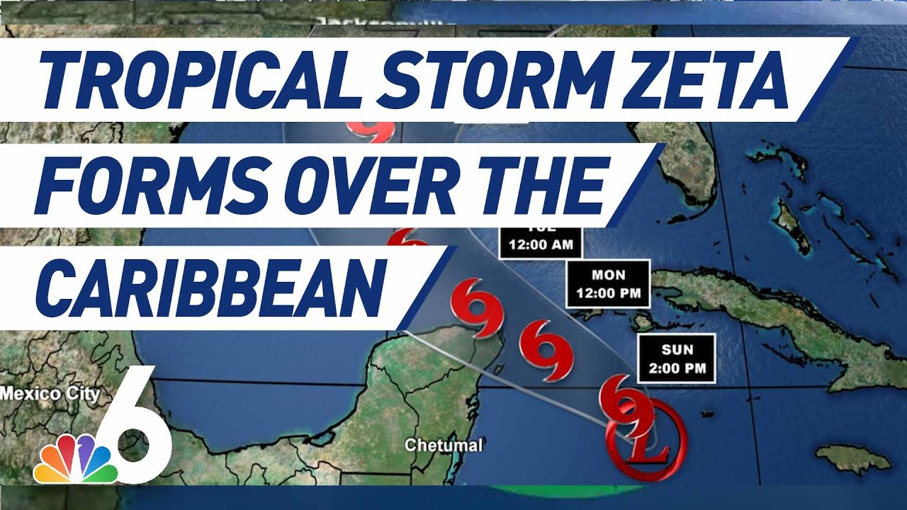 Tropical Storm Zeta Forms, Expected to Bring Heavy Rainfall to South Florida, Mexico