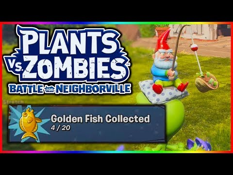 SECRET GOLDEN FISH LOCATIONS | Plants Vs Zombies Battle For Neighborville