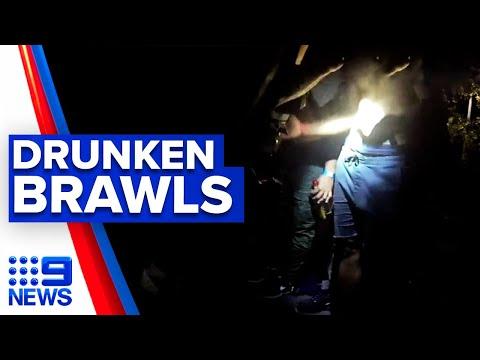 Drunken brawls break out at Queensland festival | 9 News Australia