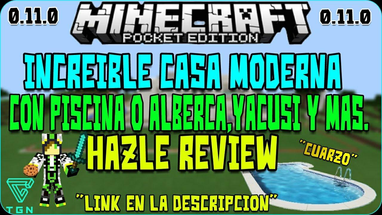Increible casa moderna para minecraft pe youtube for Casa moderna en minecraft pe 0 16 0