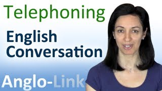Repeat youtube video Telephoning - English Conversation Lesson