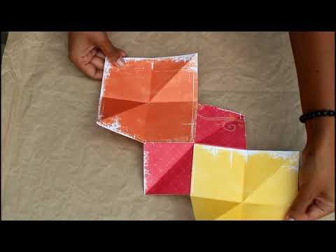 DIY Paper Craft - How To Make A Mini Album Squash Book!