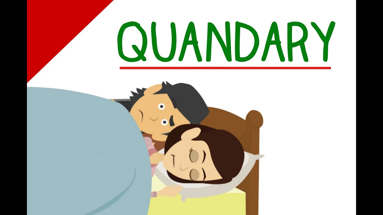 Difficult GRE Words - Quandary (Vocabulary Video) - YouTube