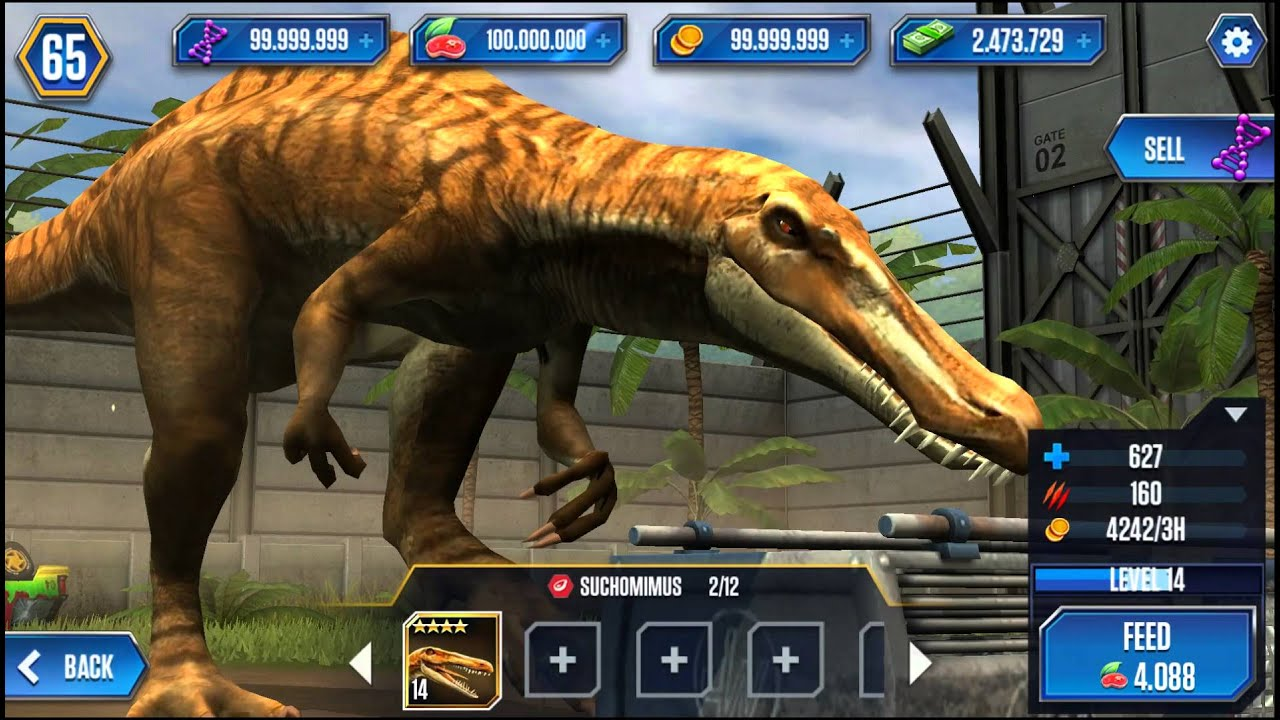 Jurassic World The Game Suchomimus Level 40 Youtube