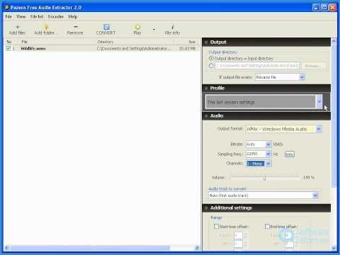 Pazera Free Audio Extractor video demo