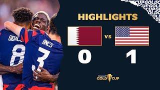 Highlights: Qatar 0-1 USA . Gold Cup 2021