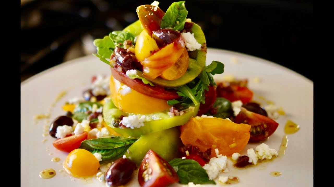 The Best Heirloom Tomato Salad - Bruno Albouze - THE REAL DEAL ...