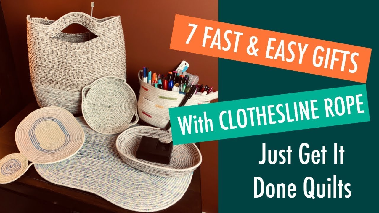 Sewing - 7 Fast and Easy DIY Gifts Using Clothes Line Rope ...