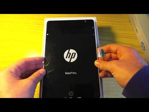 Unboxing e accensione del tablet HP Slate 8 Pro