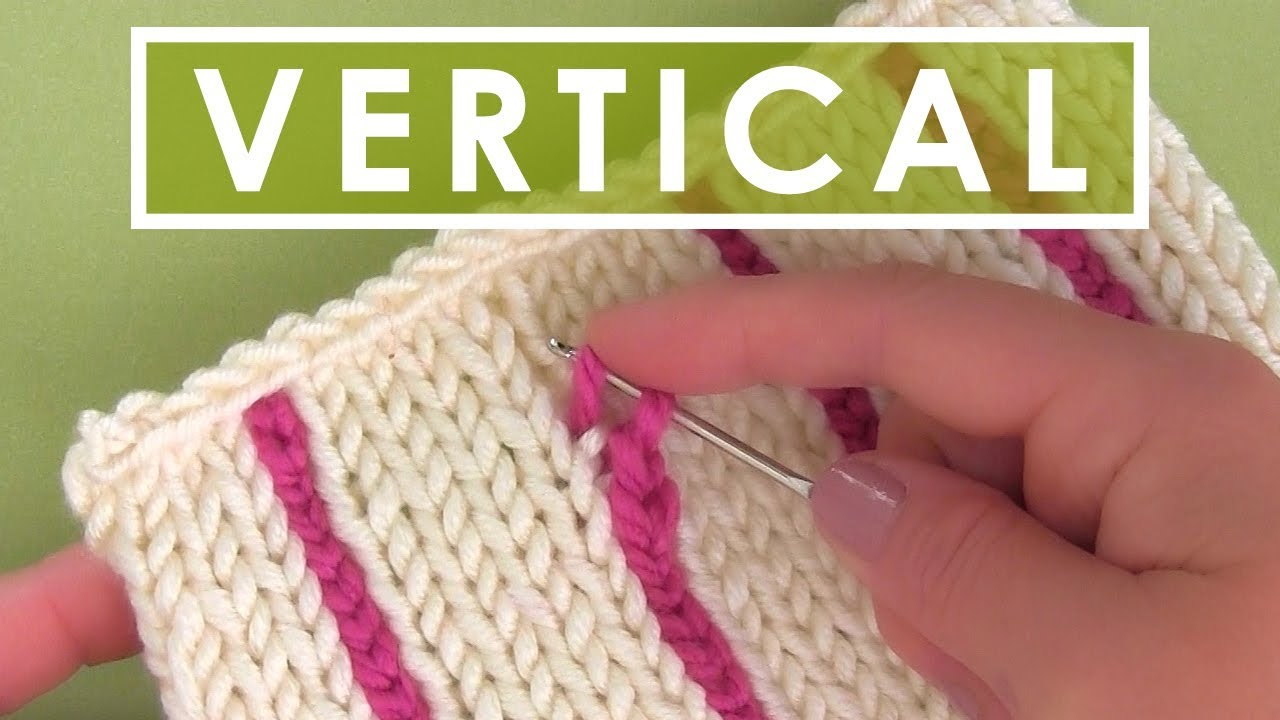 How to Knit Vertical Stripes | Knitting Hack - YouTube