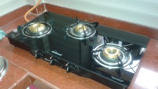 Sunflame Glass Top 3 Burner Gas Stove PEARL Overview/Review   Starcj.com   Indian Consumer