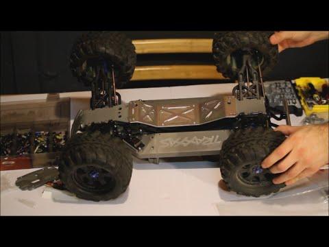 RC MC- Traxxas E-maxx/ T-Maxx Aluminum Skid Plate Upgrade ( How To ...