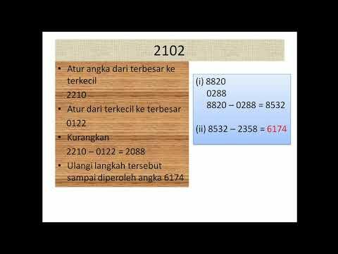 Bermain Angka 6174. Misteri Angka 6174