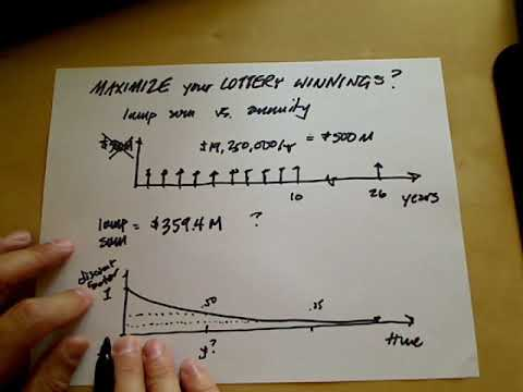 Maximize Your Lottery Winnings - Cash Flow Diagrams For Lump Sum Equivalency