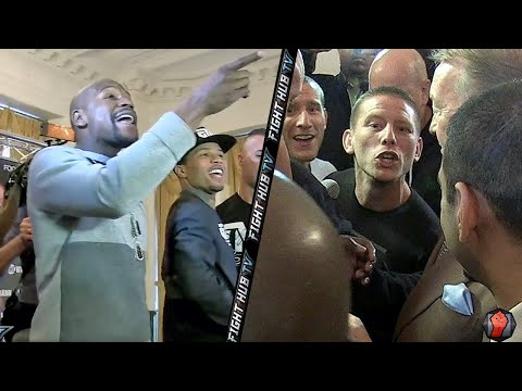 'YOU A P*SSY! YOU A B*TCH!' FLOYD MAYWEATHER CONFRONTS & RIPS WALSH BROTHERS!