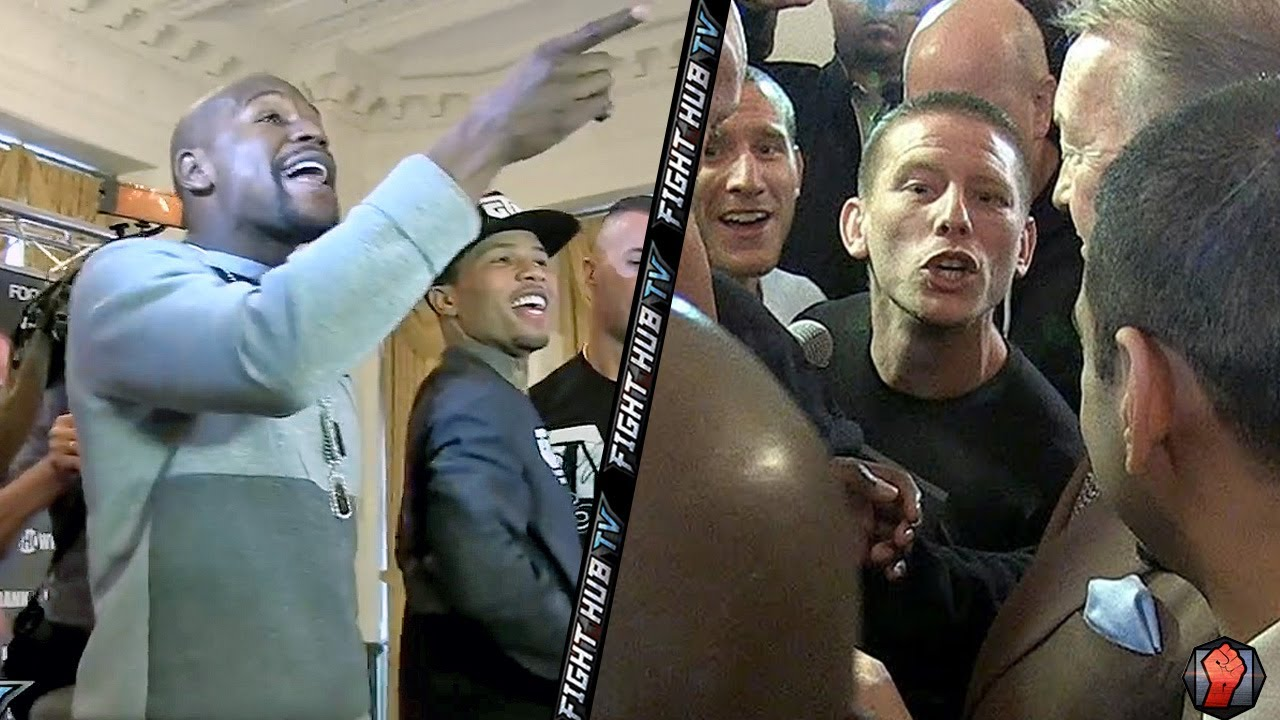 """YOU A P*SSY! YOU A B*TCH!"" FLOYD MAYWEATHER CONFRONTS & RIPS WALSH BROTHERS!"