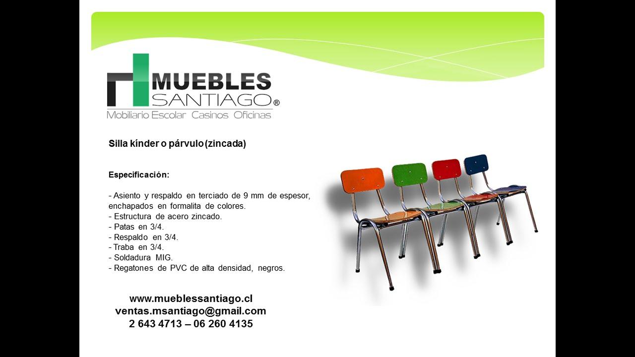 Silla k nder o p rvulo zincada sillas para jardines for Muebles para preescolar