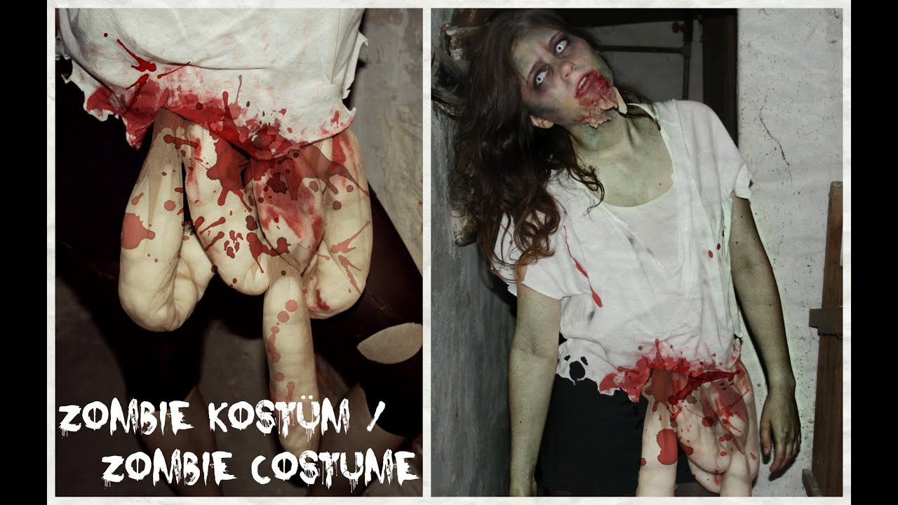 halloween month 6 diy zombie kost m zombie costume youtube. Black Bedroom Furniture Sets. Home Design Ideas