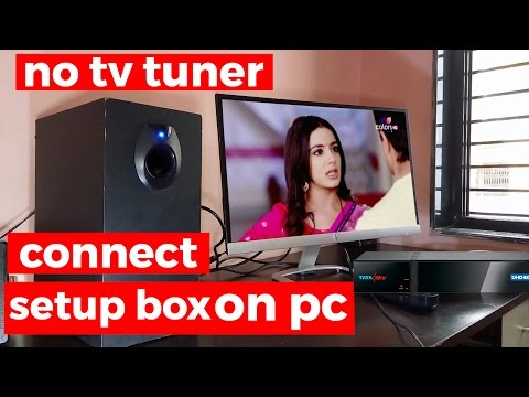 how to connect setup box ( dish ) to monitor or pc | watch tv on pc | without tv tuner | in hindi
