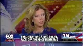 RNC Chairman Reince Priebus with DNC Chairwoman Debbie Wasserman Schultz on Fox News Sunday