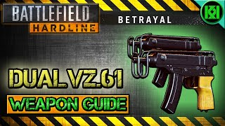 Battlefield Hardline Dual VZ .61 Review (Dual Wield Gameplay) | BFH Weapon Guide (Betrayal DLC)