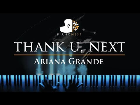 Ariana Grande - thank u next - Piano Karaoke  Sing Along Cover with