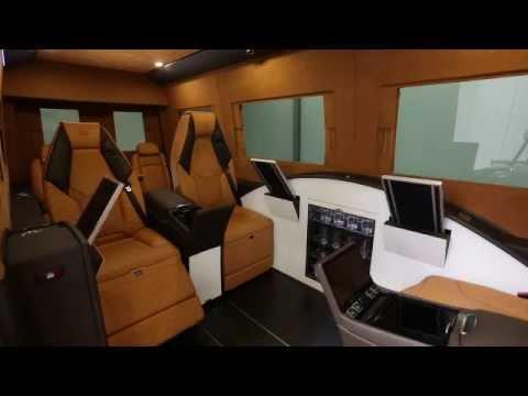 Mercedes Tour Van >> BRABUS Business Lounge for Mercedes-Benz Sprinter - YouTube