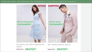 Asos GRATUIT : possible ! Ou vêtements de marques à la mode gratuits...