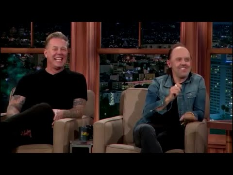 The Late Late Show James Hetfield Lars Ulrich From Metallica 17 Nov 2014