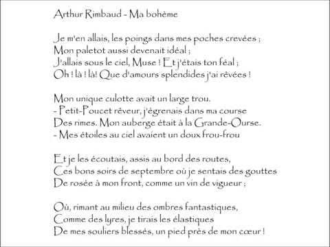 Rimbaud Ma Bohème Je Men Allais Audiothèque Youtube