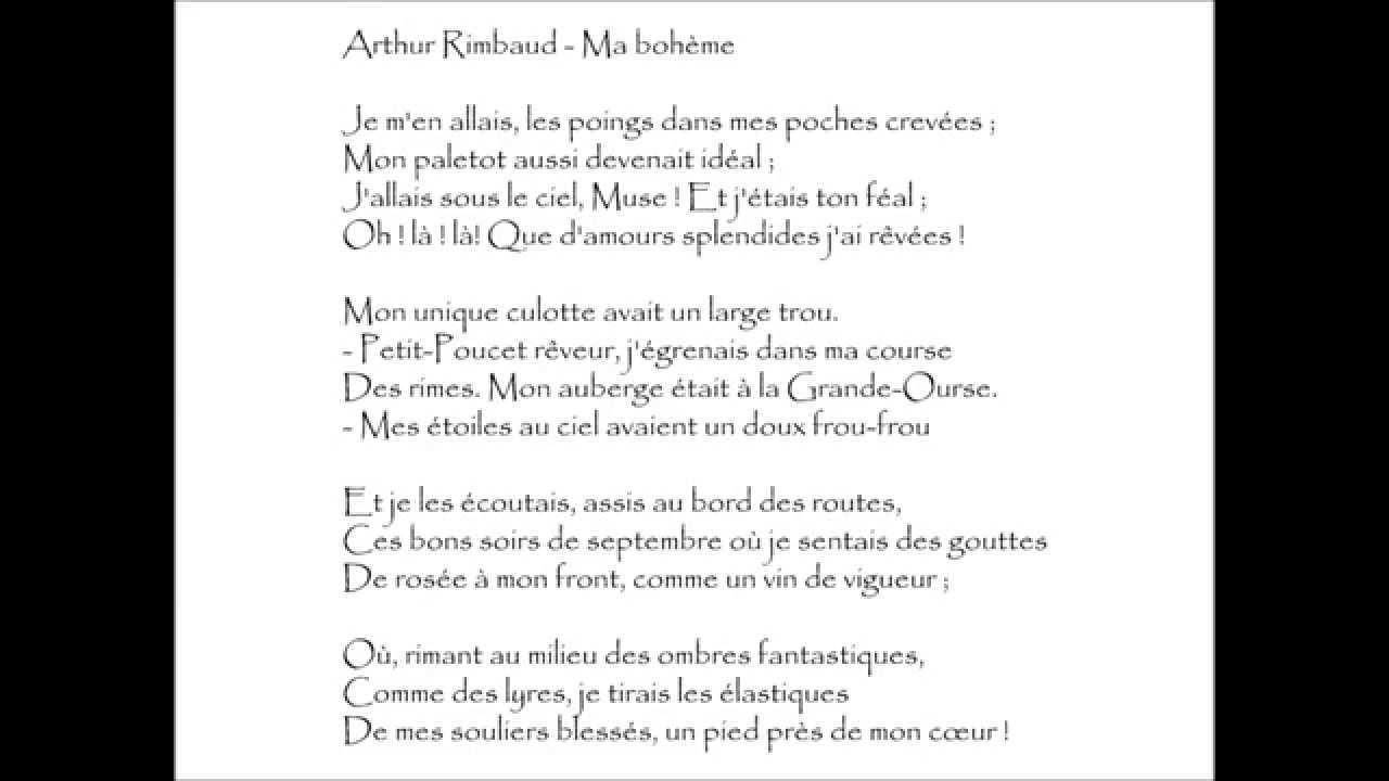Rimbaud Ma Bohème Je Men Allais Audiothèque