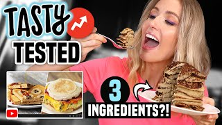 I Tried TASTY BUZZFEED BREAKFAST HACKS... What ACTUALLY WORKED?!