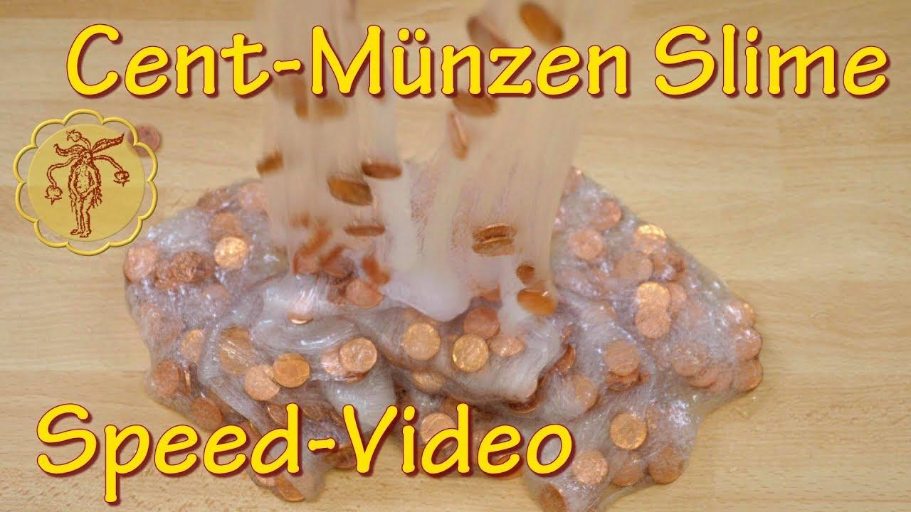 Speed Video 1 Cent Münzen Slime Selber Machen Diy Youtube