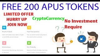 Free 200 Crypto Token | ApusToken | Get 200 Tokens Now - Worth 10$ - Upcoming Crypto Currency