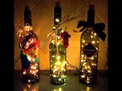 Wine Bottle Decoration With Lights Adorable Easy Wine Bottle Craft  Youtube Decorating Design