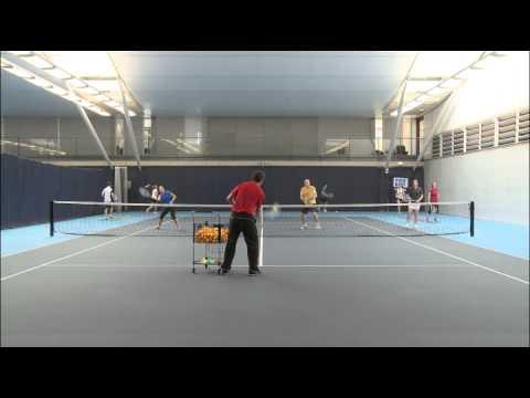 Cardio Tennis - Drills - Three Volley Across