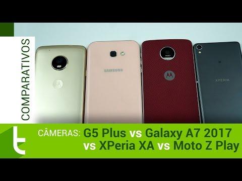 Moto G5 Plus, Galaxy A7 2017, Xperia XA E Moto Z Play | Comparativo De Câmeras Do TudoCelular
