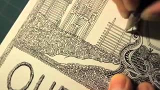 """""""Queen of Swords"""" drawing by Daisuke Okamoto"""