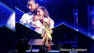 Maluma demuestra su amor por su novia natalia