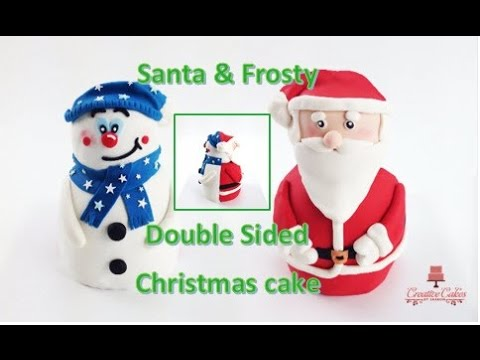how to make a christmas cake 3d santa clause frosty the snowman from creative cakes by sharon - Santa Snowman