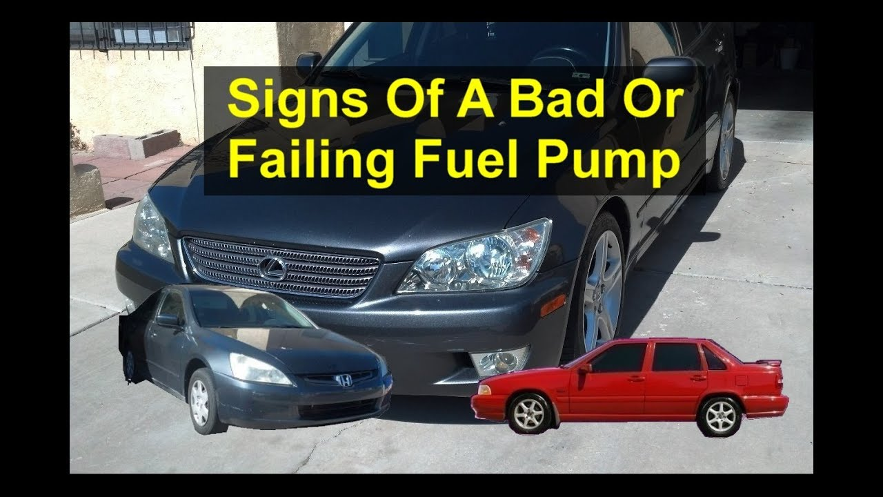 Top 5 symptoms or signs of a bad or failing fuel pump, in your car or  truck  - VOTD
