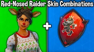10 BEST 'RED-NOSED RAIDER' SKIN COMBINATIONS! (Fortnite Skin + Backbling Combos)