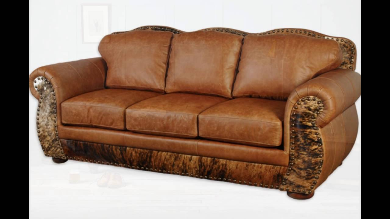 Elegant Full Grain Leather Sofa