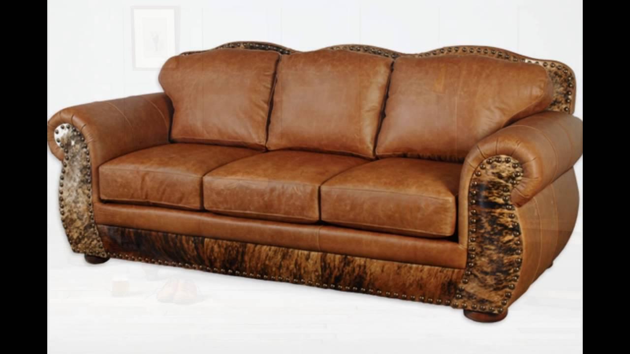 Full Grain Leather Sofa - YouTube